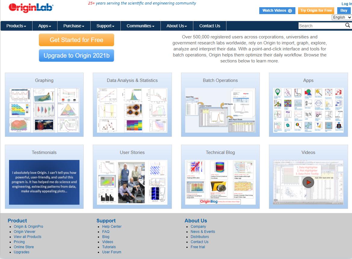 OriginPro网站