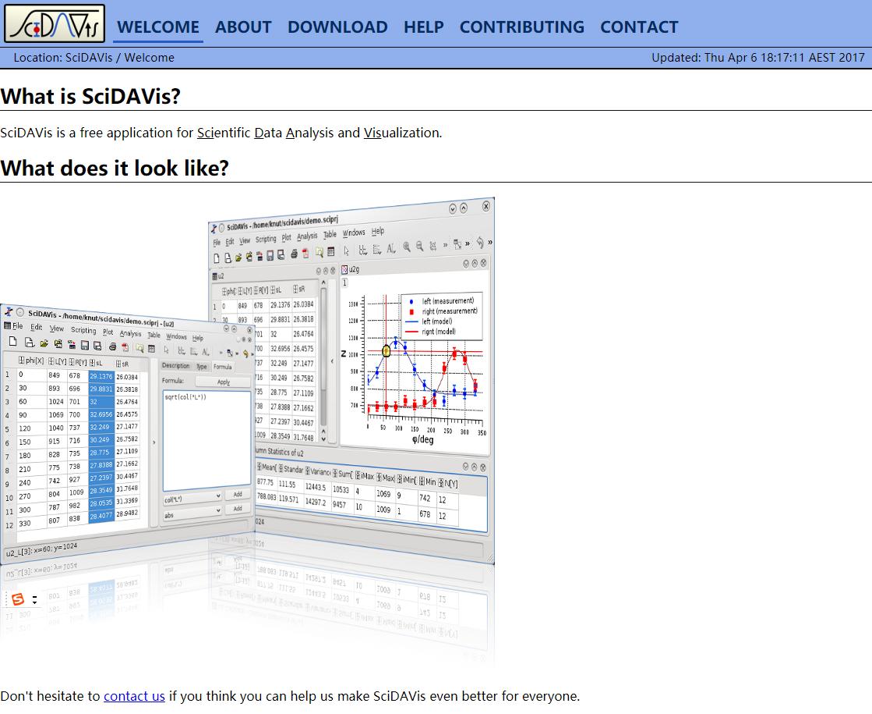 SciDAVis网站