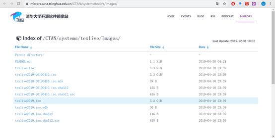 TeXLive开源镜像站
