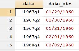 待处理的文字型日期变量