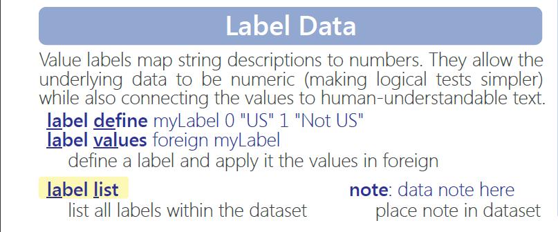 图2-3:Stata-变量标签