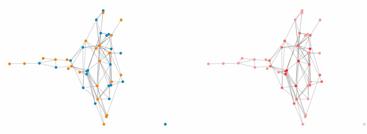 图 2:逮捕与帮派网络结构